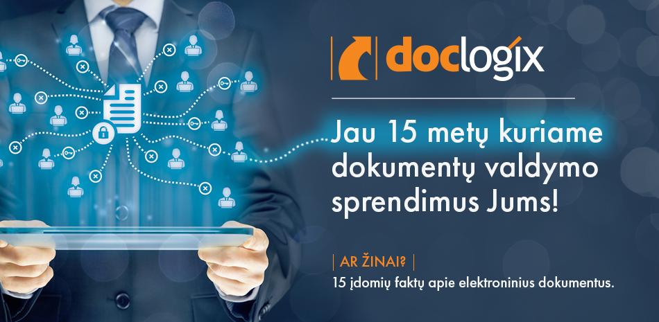 """""""DocLogix"""" švenčia 15-kos metų jubiliejų!"""