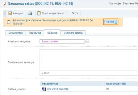 Automatinis išsaugojimas DocLogix sistemoje