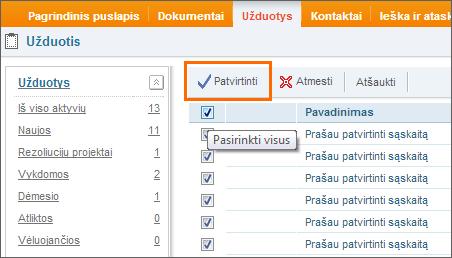 Kelių užduočių užbaigimas vienu metu DocLogix sistemoje